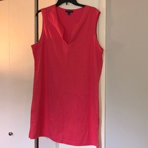 Lands End sleeveless dress. Pink size L